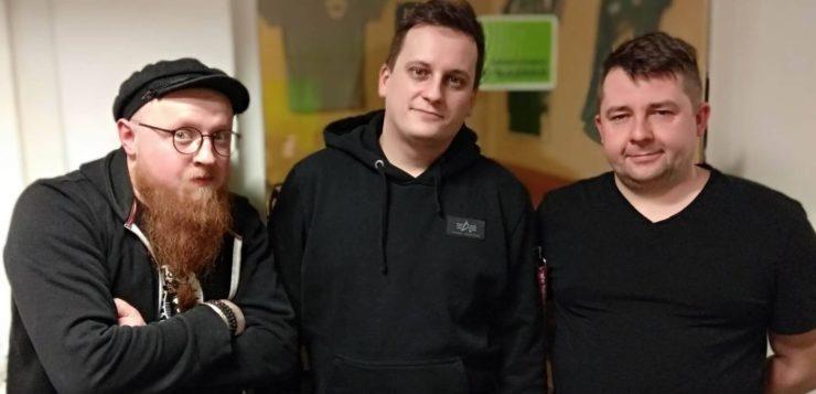 Paweł Chałupka i Adam Gajda w UWM FM