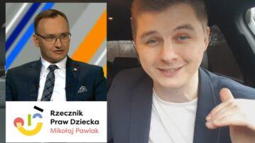 Mikołaj Pawlak - Rzecznik Praw Dziecka Mini Leja Show